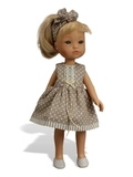 Пальто и платье - На кукле. Одежда для кукол, пупсов и мягких игрушек.