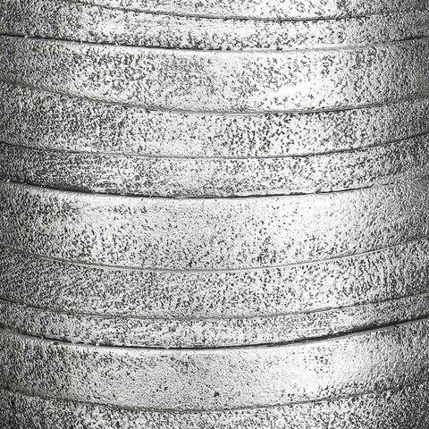 ROWEV26-SLV Кашпо Роу Высокое, файберстоун, серебро, D26.5 H45 cm