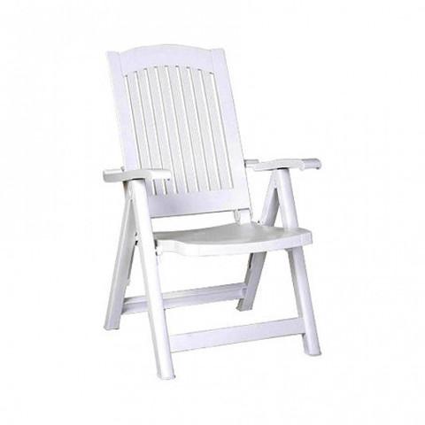 Кресло-шезлонг пластиковое PASA белое (Siesta/Турция)