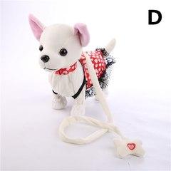 Собачка на поводке платье с сердечками