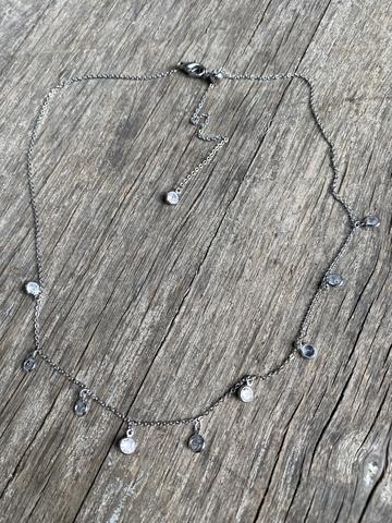 Колье Кристала, серебряный цвет