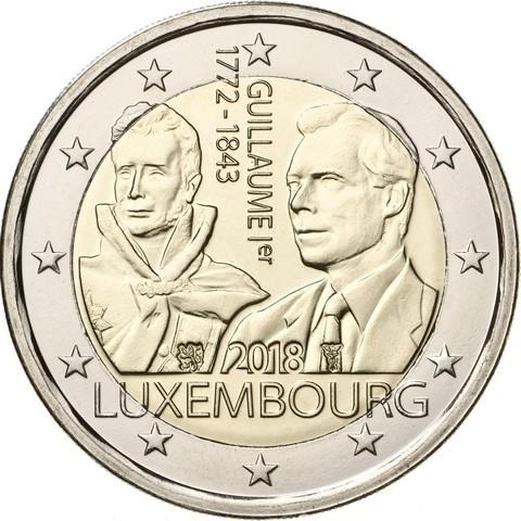 2 евро. Герцог Гийом I. Люксембург. 2018 год