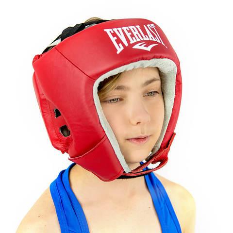 Шлем открытый кожаный USA Boxing Everlast