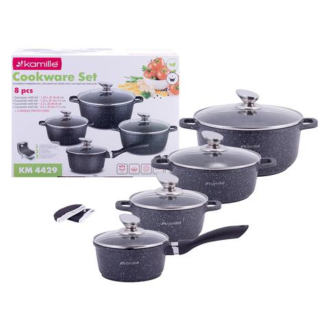 Набор посуды с прихватками Kamille KM-4429, 9 предметов