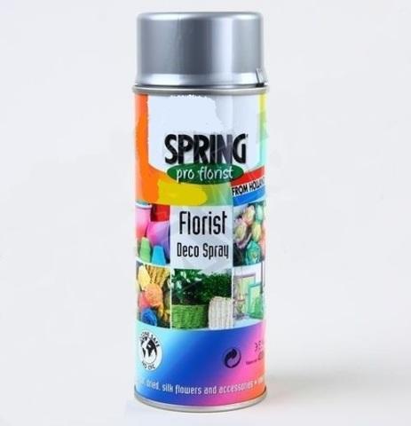 Краска-спрей SPRING (объем:400мл) Цвет: 003, серебряный