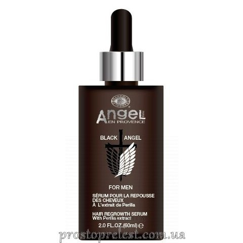 Angel Professional Paris Black Angel Hair Regrowth Serum - Сироватка для росту волосся з екстрактом перилли