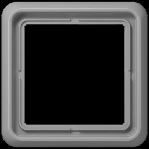 Рамка на 1 пост. Цвет Блестящий серый. JUNG CD 500. CD581WUGR