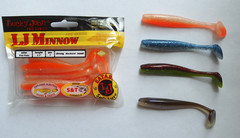 Мягкая приманка Lucky John MINNOW 5.5in (139 мм), цвет T26, 4 шт.