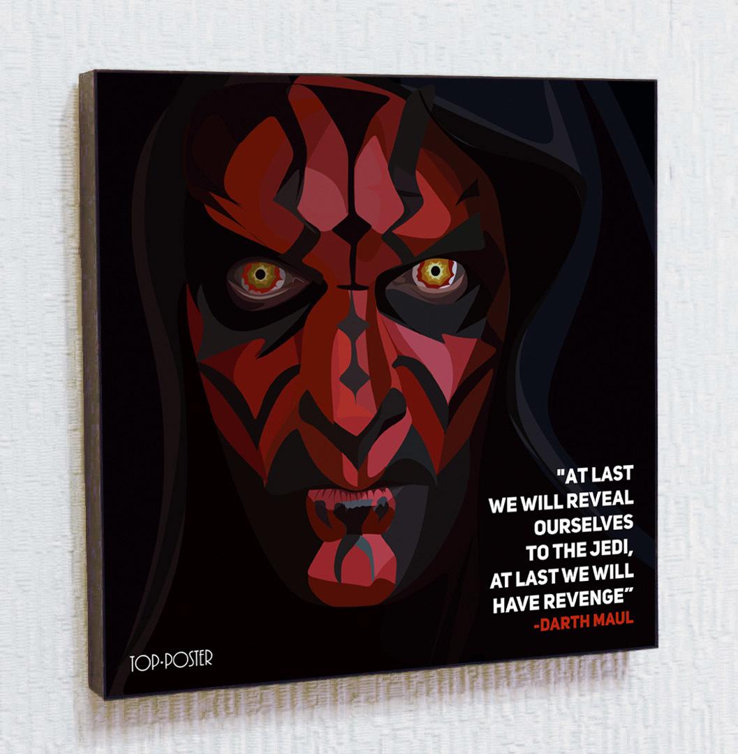 постер ПОП-АРТ Дарт Мол | STAR WARS | Звездные Войны