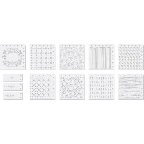 Набор масок (трафаретов) для штампинга Precision Stencils 12 шт.