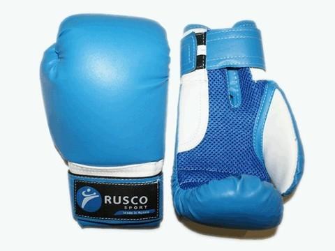 Перчатки боксёрские RUSCOsport, синие, 4 Oz: С-4