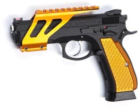 Накладки на рукоятку для CZ SP-01 SHADOW желтые (планка в комплект не входит) (артикул 18477)