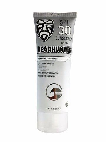 Лосьон солнцезащитный водостойкий HEADHUNTER SPF 30 Premium Clear/White