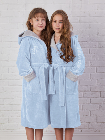 SPORT GIRL (голубой) детский халат для девочки  Five Wien Турция