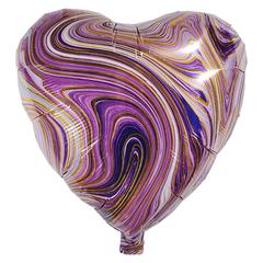 Воздушный шар Сердце - Агат (Фиолетовый)