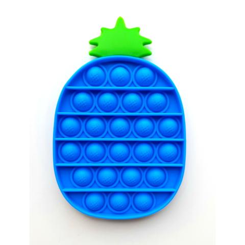 Пупырка вечная антистресс pop it (поп ит) синий ананас