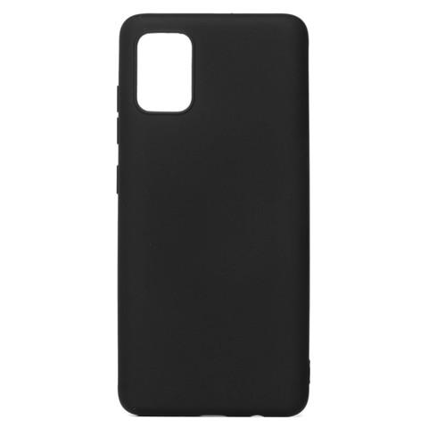 Чехол для Samsung (A715) Galaxy A71 Софт тач мягкий эффект   микрофибра черный