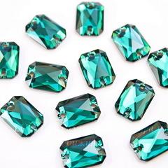 3252 Пришивные стразы Сваровски Cut Emerald (14х10 мм)