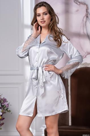 Короткий халат Mia Amore (70% натуральный шелк)