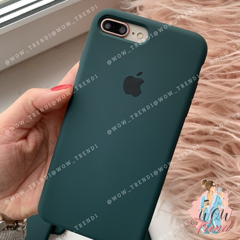 Чехол iPhone 7+/8+ Silicone Case /forest green/ зеленый лес 1:1