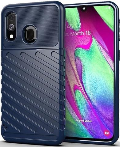 Чехол для Samsung Galaxy A40 цвет Blue (синий), серия Onyx от Caseport