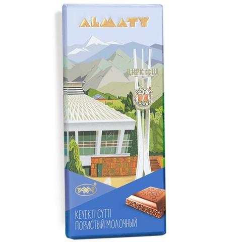 Шоколад ALMATY Молочный пористый 90 г Рахат КАЗАХСТАН