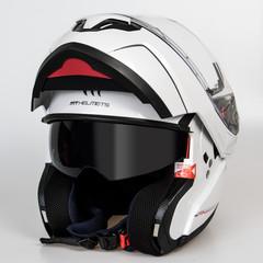 Шлем-модуляр MT Atom, белый