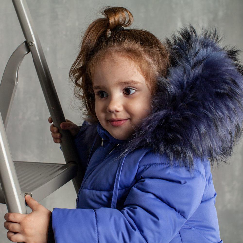 Дитячий зимовий костюм фіолетового кольору з водовідштовхувальної плащової тканини