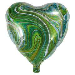 Воздушный шар Сердце - Агат (Зеленый)