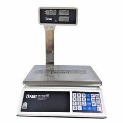Купить Весы торговые настольные ГАРАНТ ВПС-40КД, LCD, АКБ, 40кг, 5гр, 330х220, со стойкой. Быстрая доставка