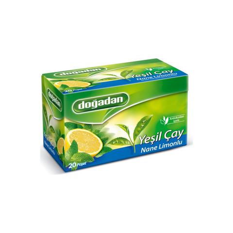 Çay \ Чай \ Tea Doğadan yaşıl çay nanə-limon (20 əd)