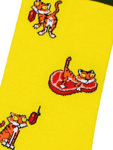 Носки Тигр желтый