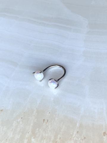 Кольцо Кимти дабл, серебряный цвет