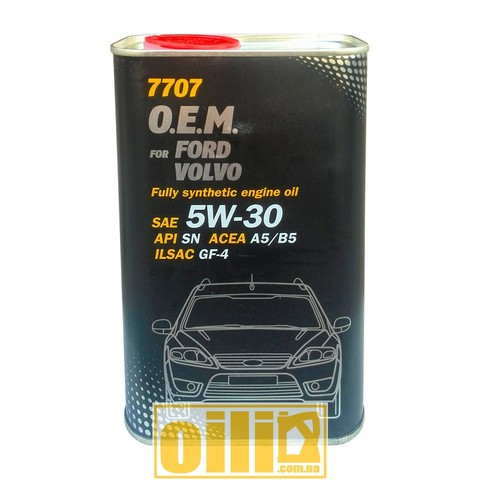 7707 Mannol O.E.M. for FORD VOLVO 5W-30 1L metal