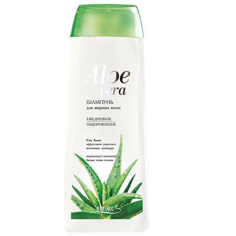Шампунь для жирных волос « Ежедневное оздоровление » , 500 мл ( Алоэ Вера )