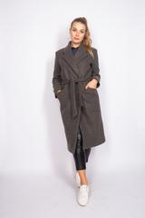 Удлиненное пальто из кашемира с поясом купить