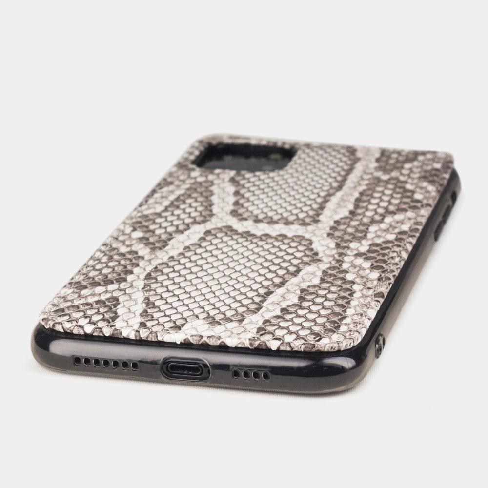 Чехол-накладка для iPhone 11 Pro Max из натуральной кожи питона, цвета Natur