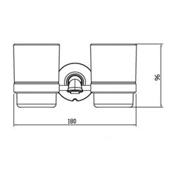 Стакан двойной с настенным креплением KAISER Bronze II KH-4015 схема
