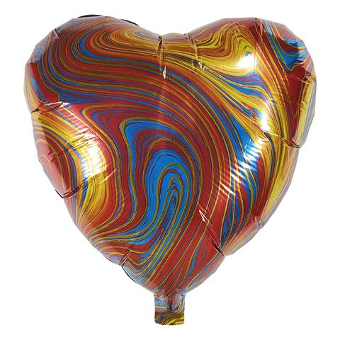 Воздушный шар Сердце - Агат (Красный)