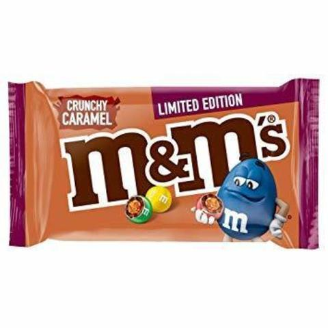 Шоколадное драже M&M's Crunchy caramel с хрустящей карамелью 36 гр