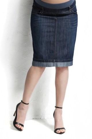 Юбка для беременных джинсовая 06480 синий