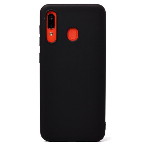 Чехол для Samsung (A205) Galaxy A20 Софт тач мягкий эффект | микрофибра черный