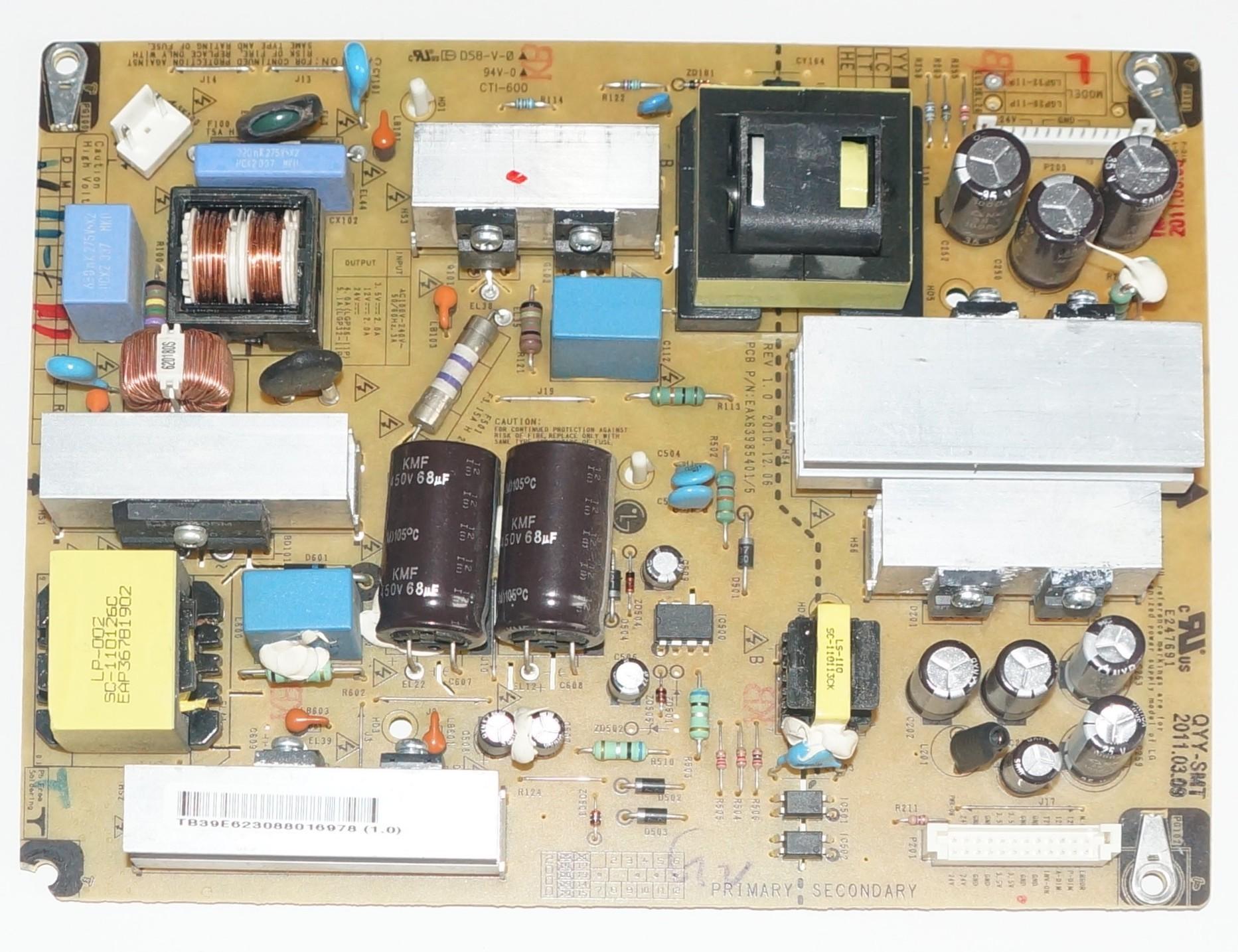 EAX63985401/5 LGP32-11P блок питания телевизора LG