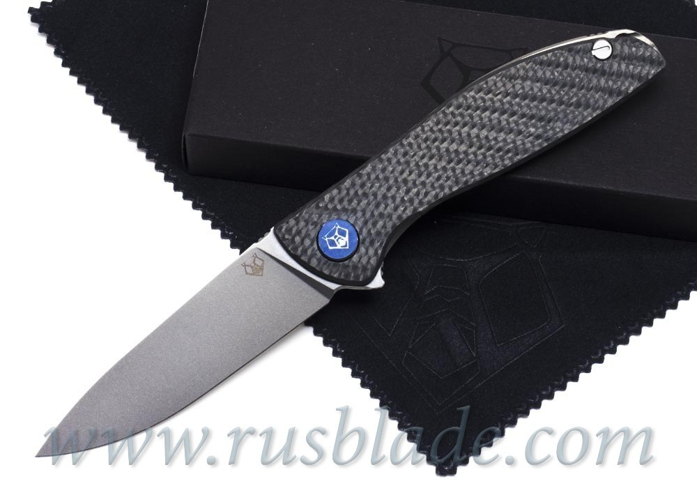 Shirogorov HatiOn Lite M390 Blue CF MRBS - фотография