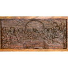 Полка для икон одноярусная угловая из мореного дуба 40х40х10см
