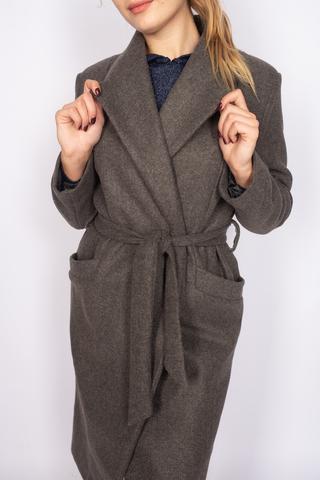 Удлиненное пальто из кашемира с поясом Nadya