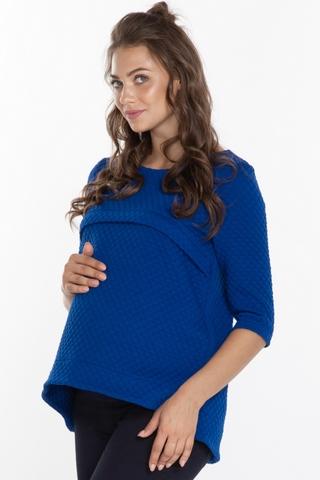 Джемпер для беременных и кормящих 08294 синий