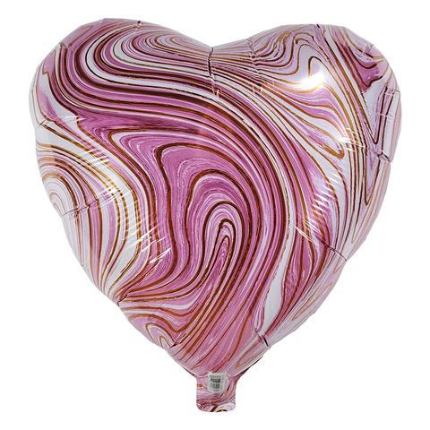 Воздушный шар Сердце - Агат (Розовый)