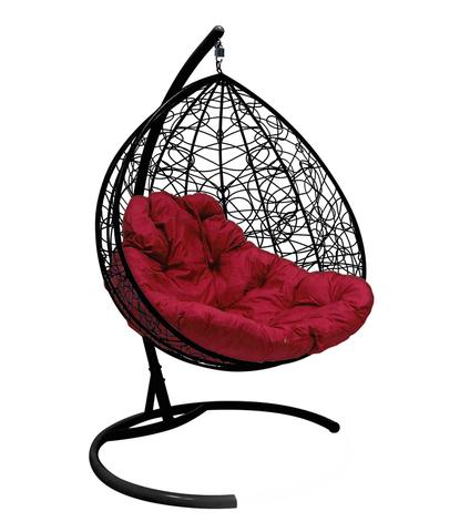 Кресло подвесное Lagos TWIN black/burgundy