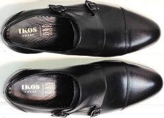 Мужские стильные туфли на выпускной Ikoc 2205-1 BLC.
